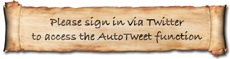 Please sign in via Twitter to access the AutoTweet function.